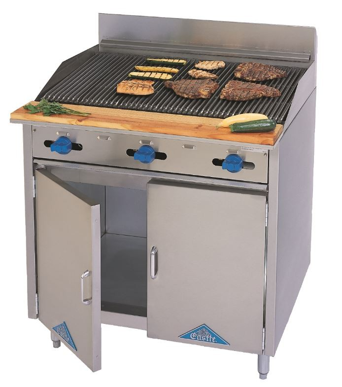 Floor Model Char-Broilers and Griddles on Cabinet Base