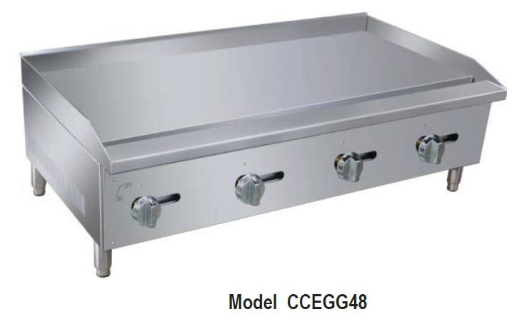 CCEGG Series Manual Griddles